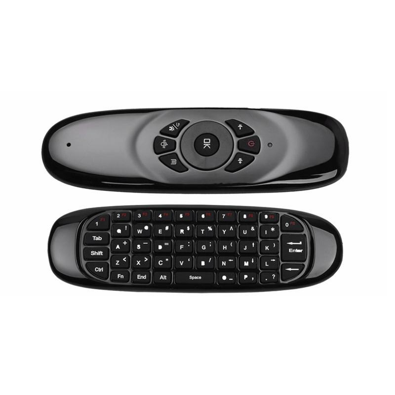 2.4G Air Mouse Wireless Keyboard Fernbedienung für Android TV Box Computer-Englisch Version 6 Achsen Gyroskop
