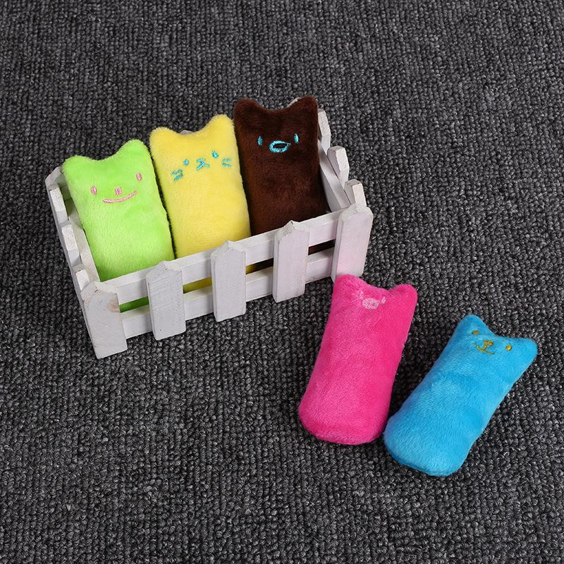 Thumb Plaything Kitten Teeth Pet Cats Mint Cute Chewing Toy Plush Grinding Interaction Toys Supplies Bite Resistant New Arrival 1 6lc K2