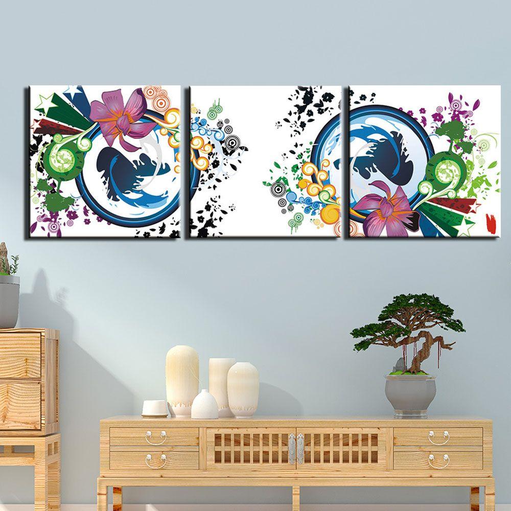 3 stück Leinwand Kunstdrucke Wandkunst Stillleben Bunte Blume Bilder Gemälde für Schlafzimmer Moderne Poster Malerei