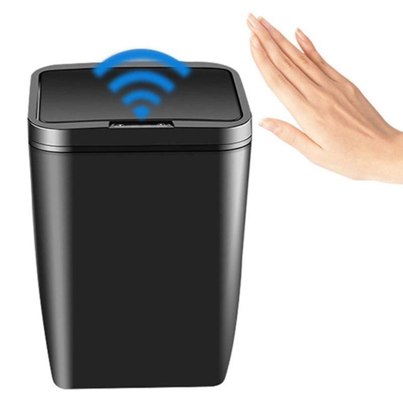 Тип батареи 12L Автоматический датчик Dustbin Smart Sensor Trash Can Индукционная Waste Bin Мусор Может Главная Гостиная Garbage Bucket C0930
