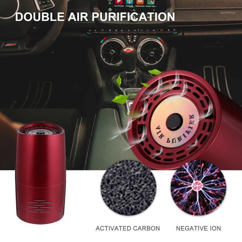 자동차 공기 청정기 음이온 포름 알데히드 제거 필터 장치 USB 정수기 Deodoralizer 자동 홈 1에 대 한 휴대용