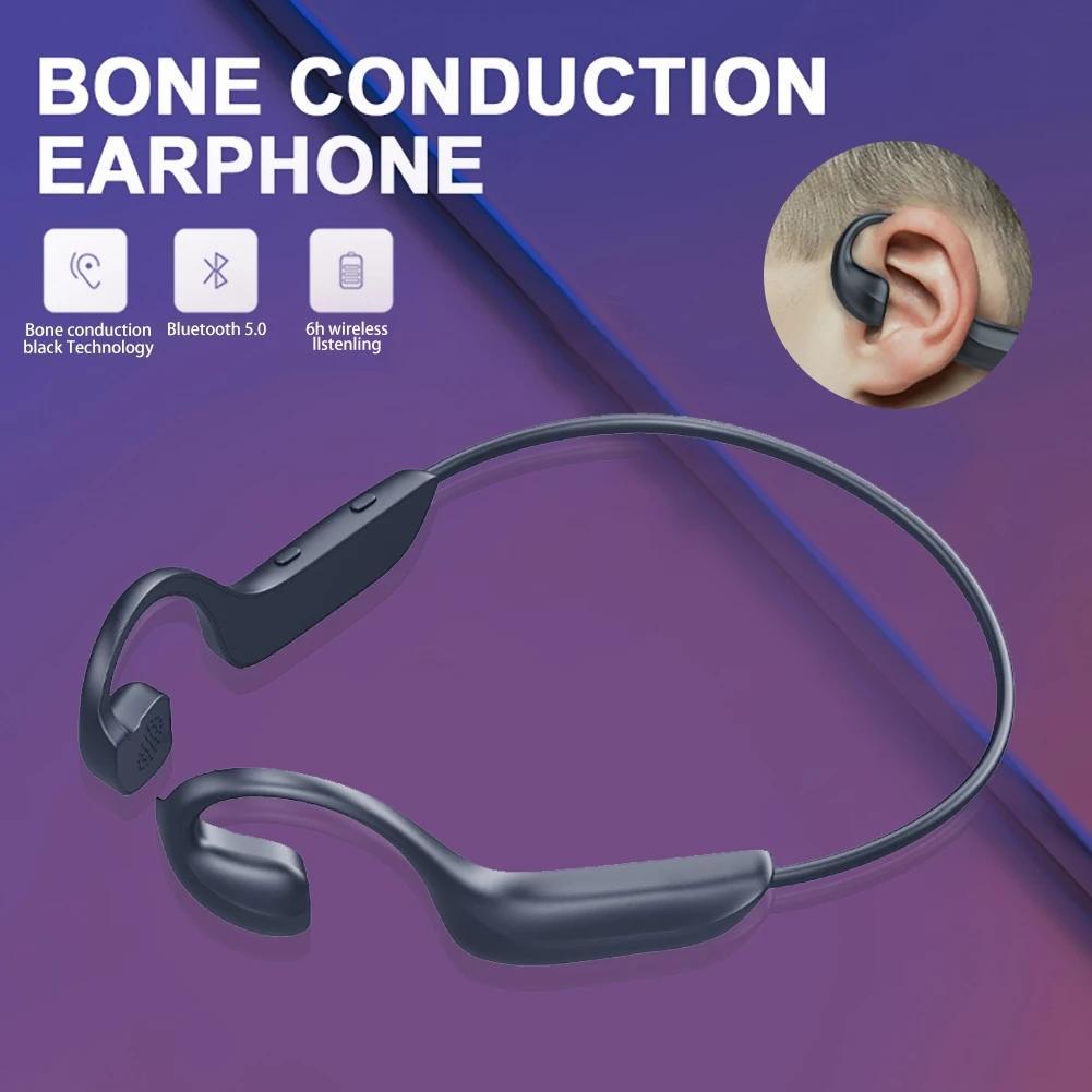 G100 Bluetooth Funkkopfhörer öffnen Ohr-Kopfhörer Sports Wasserdicht Nicht-In-Ear Noise Reduction Leichtgewichtler Button Control Kopfhörer