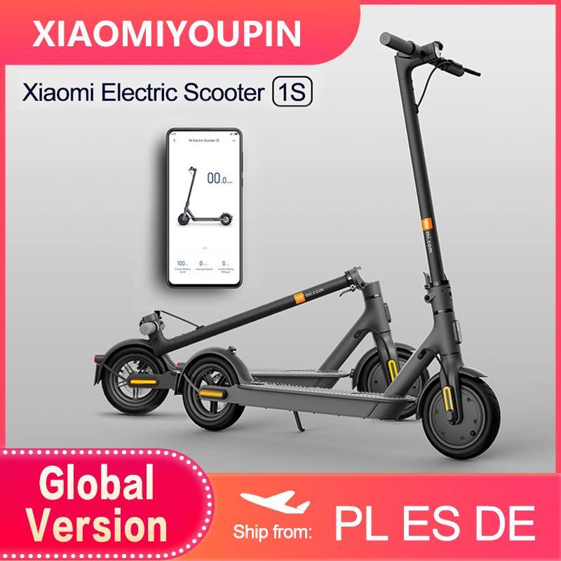 2020 새로운 Xiaomi MI 전기 스쿠터 1S 스마트 Foldable 스쿠터 스케이트 보드 250W 모터 20km Rang 미니 Patinete 스케이트 보드