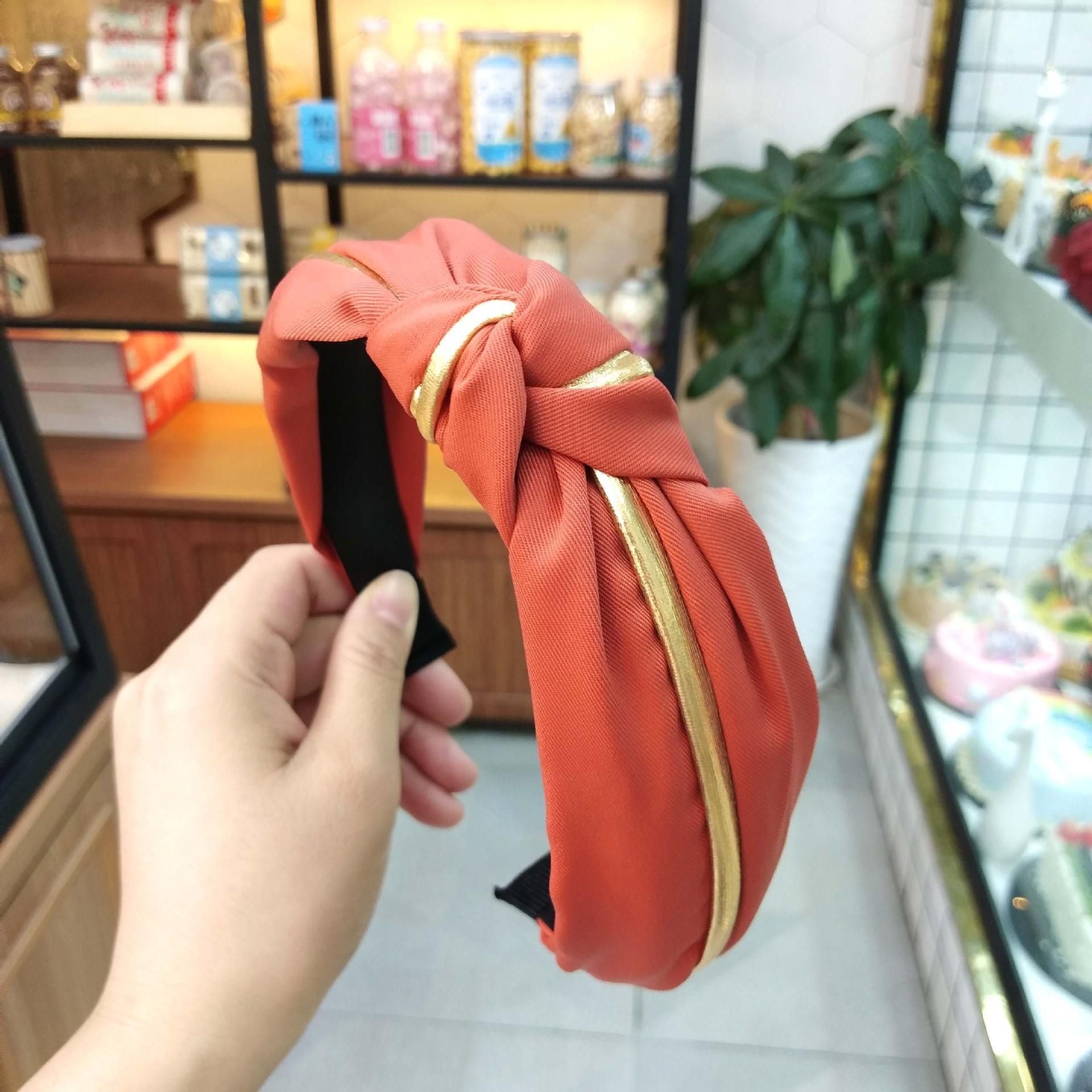الكلاسيكية البرتقال Hairbands فتاة والأناقة الشعر التعادل اكسسوارات المرأة الجديدة فرق بسيط شعر هوب أغطية الرأس