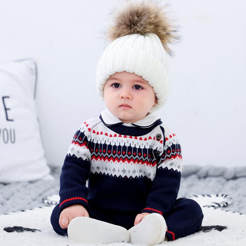 6-24 mois Sweater Combinaison Spring Automne Chinced Billard Vêtements Barbon Baby Girls Vêtements