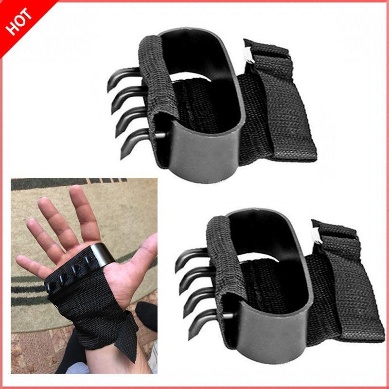 2 шт. Ninjutsu Martivial Arts Ninja Восхождение инструменты Тактические перчатки скрытые оружия скольжения лапы когть нож пара