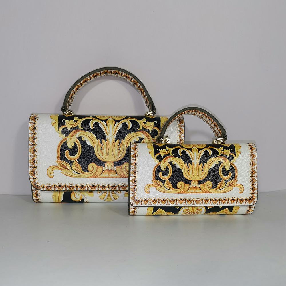 All-match Square Messenger Bag Flower Chain Mini Handbag Leopard Print Lion Tiger Party Q1230
