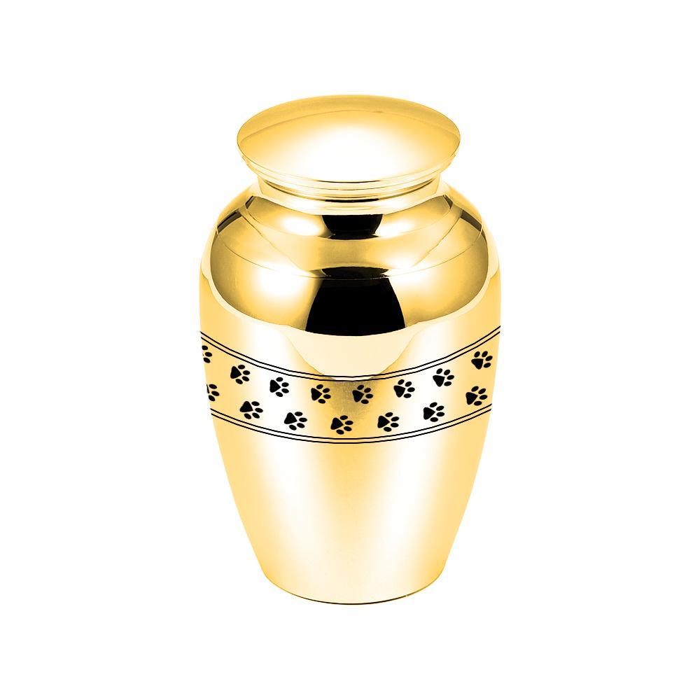 45x70mm Mini Crémation Urnes Funéraires en alliage d'aluminium pour animaux Paws Crémation Urne pour Ashes Animaux / Jar Funérailles