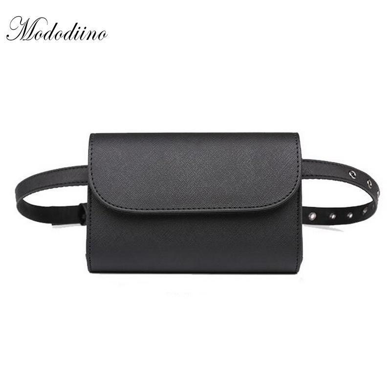 Borse Borsa PU di alta qualità Vintage Piccolo Borsa da cintura nera Borsa in pelle Mododiino Fashion 2020 Pack Phone Fanny DNV0467 NUCBM