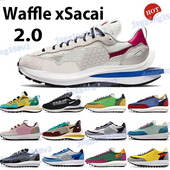 Waffle xsacai tênis 2,0 mens fashion sneakers vela excursão corda amarela preta de multi ouro verde bordeaux roxo treinadores de esportes azul