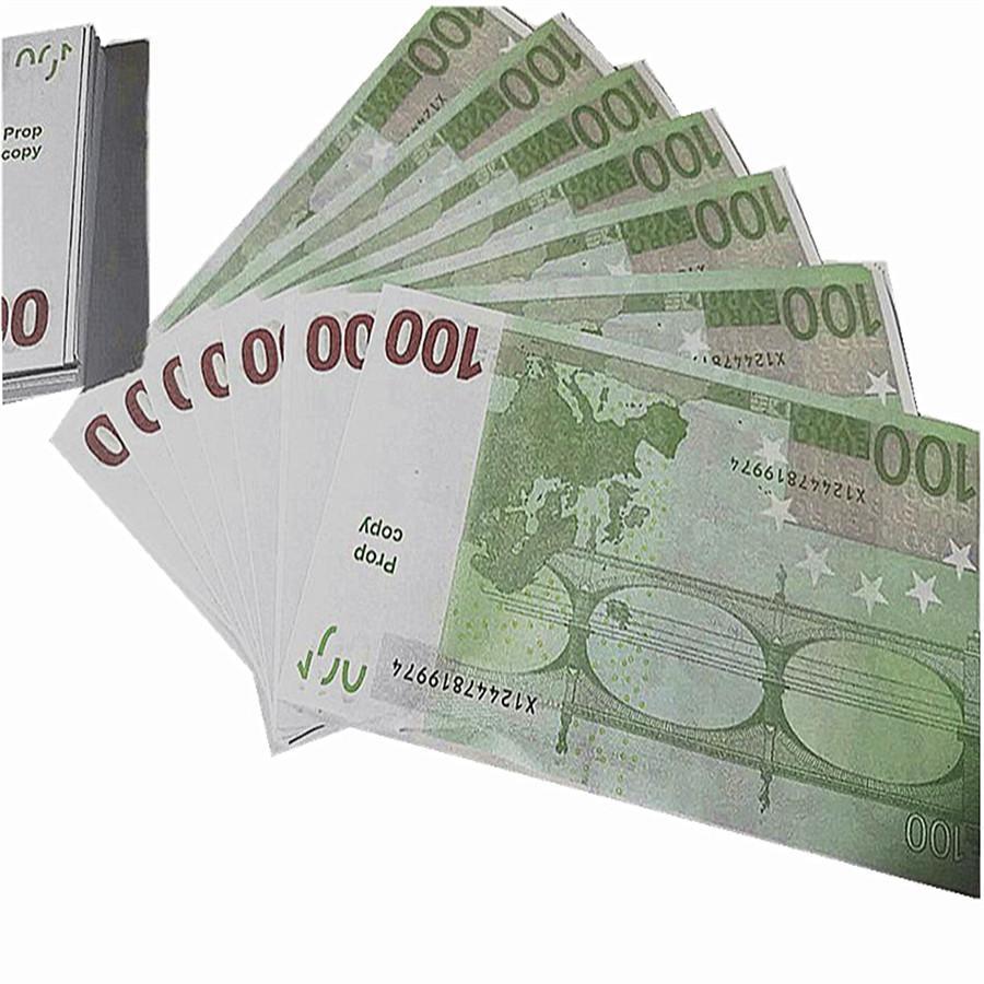 100 teile / paket EUR gefälschte Geldwährung 100 Euro BH PR-Prop Movie Money Faux Billet Spiel Gefälschte Dollar Euro K6