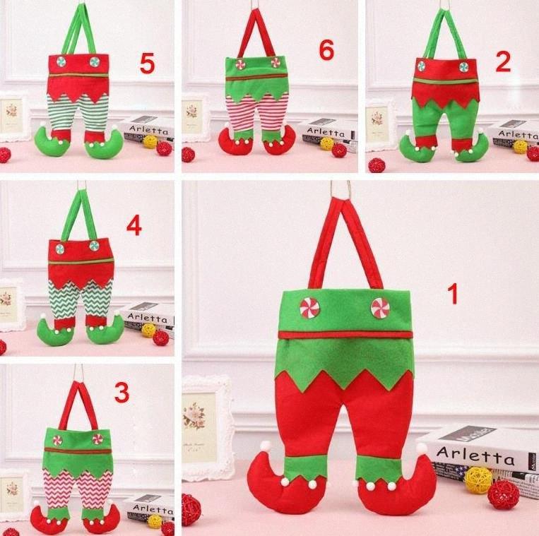 Yeni Noel Süsler Noel Kırmızı Şarap Şişesi Çanta Hediye Şeker Çanta Elf Hediye 100pcs DHL NCPf #