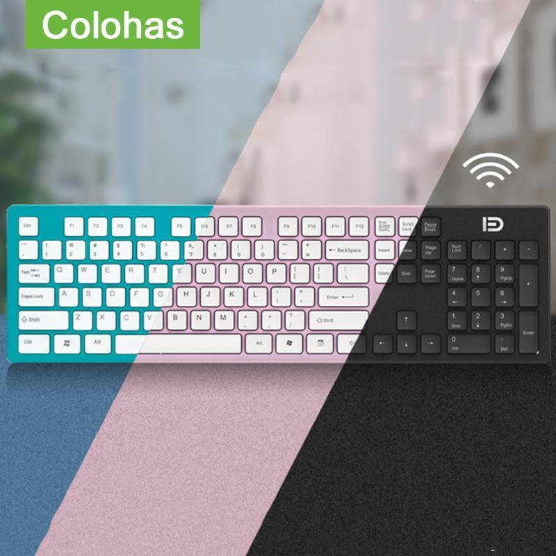 Wireless Gaming Slient tastiera per l'aria pro tastiera senza fili 2.4G per il PC del computer portatile Gamer tastiera Gaming Pad