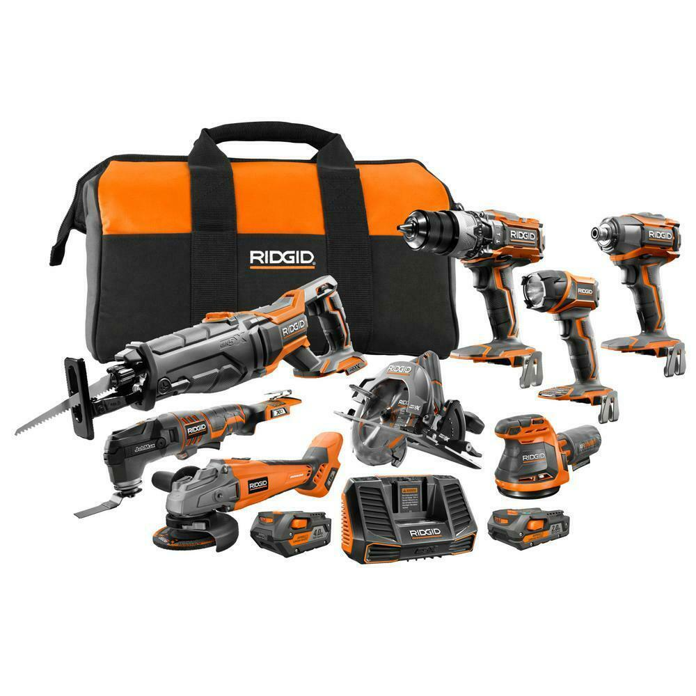 Tool Combo Kit 18-Volt Lithium-Ion Cordless Battery Charger Bag