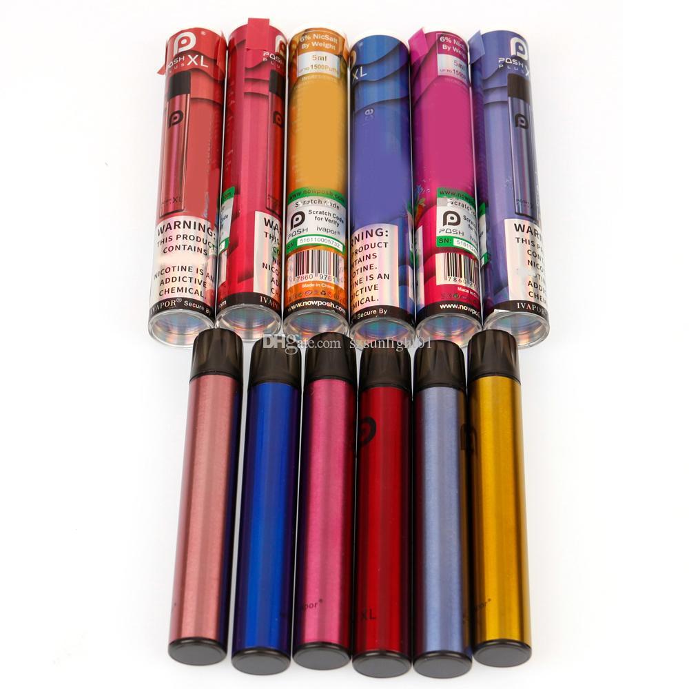 1500 puffs posh plus xl Einwegzigaretten Pod Geräte Vape Stift Starter Kit Aktualisiert 5ml Vorgefüllte Patronenverdampfer E Cigs Dampf