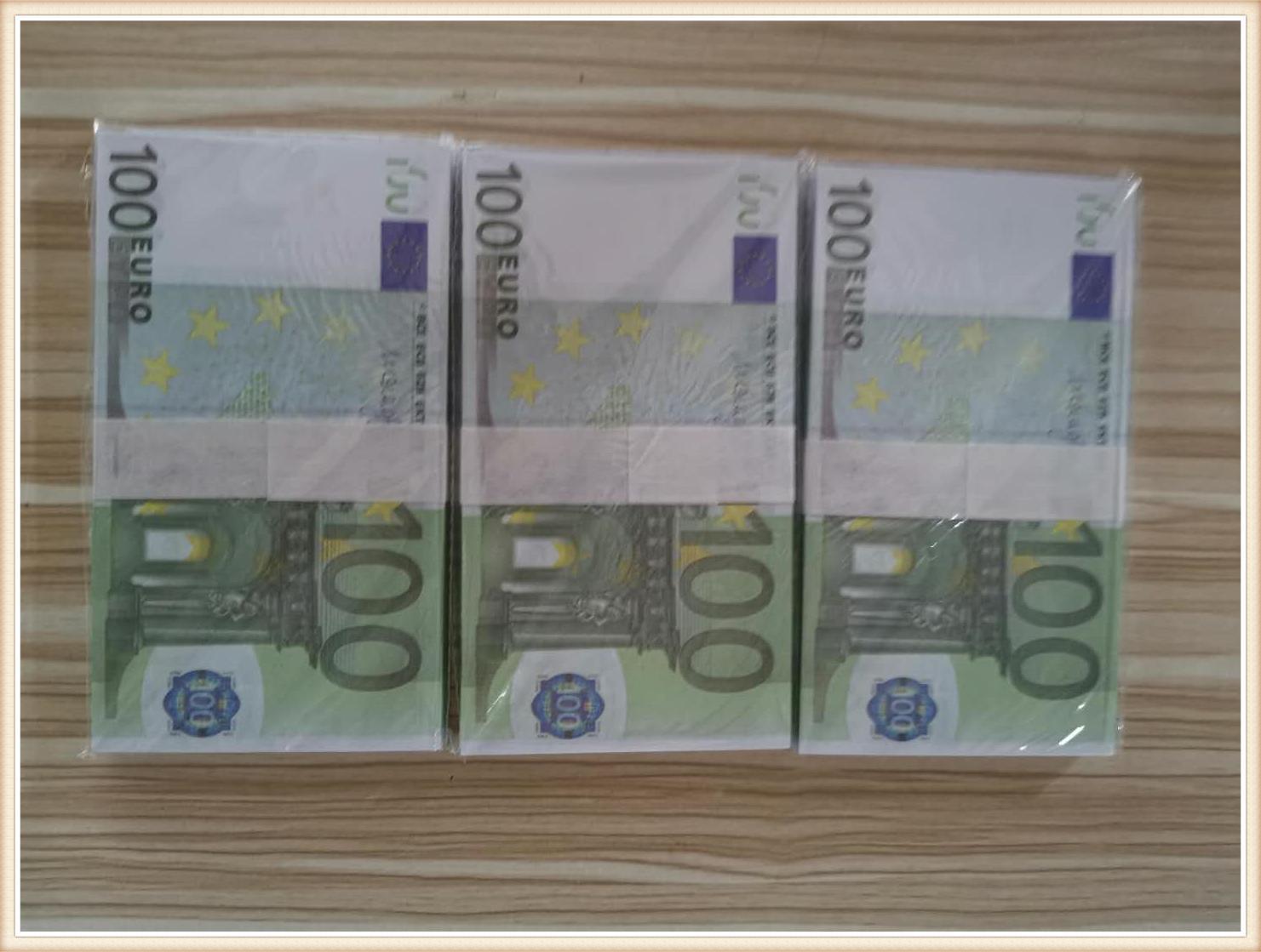 17 2020 Novedad EUR 100 de oro cifra de billetes en falso oro 24K papel moneda Euro en la colección de billetes conjuntos de juguetes