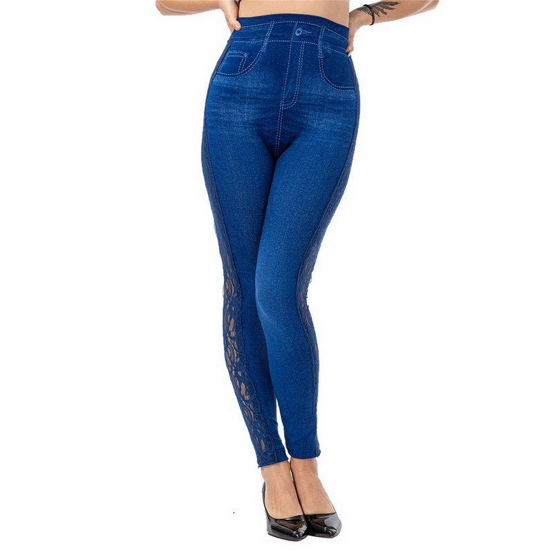 2020 Sports Pants Seamless Leggings Jeans For Women High Waist Skinny Push Up Pencil Pants Plus Size Stretchy Slim Rivet Pants