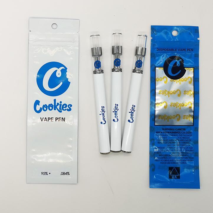 Vape desechable Bolígrafo de 0.5ml Carros de galletas Cartuchos de aceite vacíos Bolso de paquete 280mAh Vaporizador de batería Kit de inicio Cerámica Bobina E Kits de cigarrillos
