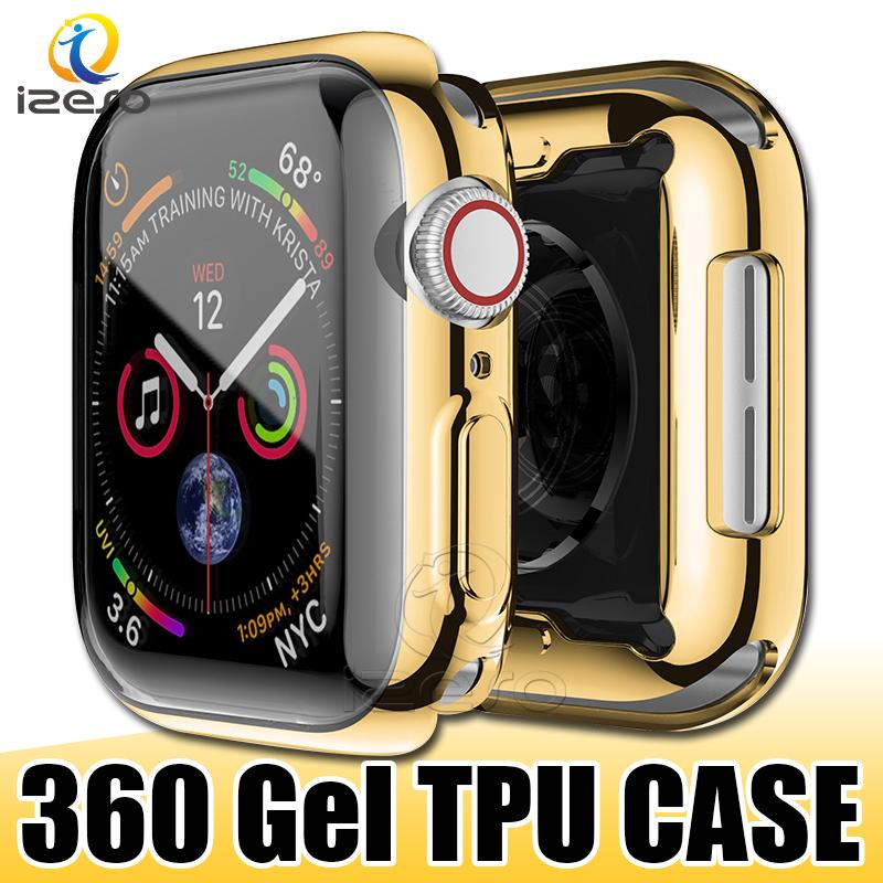 For Apple Watch Series 6 40mm 44mm Gel Electroplated TPU Watch Case Full Covered Watch Cover Protector for iWatch 5 4 3 izeso