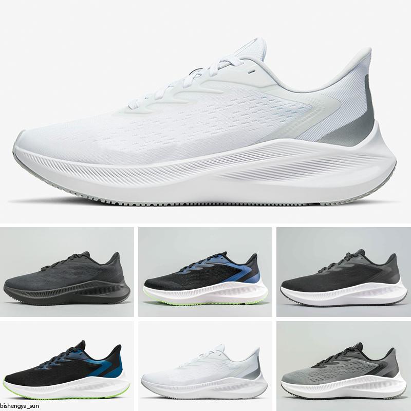 Zoom Pegasus Winflo V7 çalışan yakınlaştırma eğitmenler erkek büyük çocuk erkek Pegasus bize 12 386 46 kadını boyut 5 Sneakers erkekler jimnastik chaussures beyaz makosenler