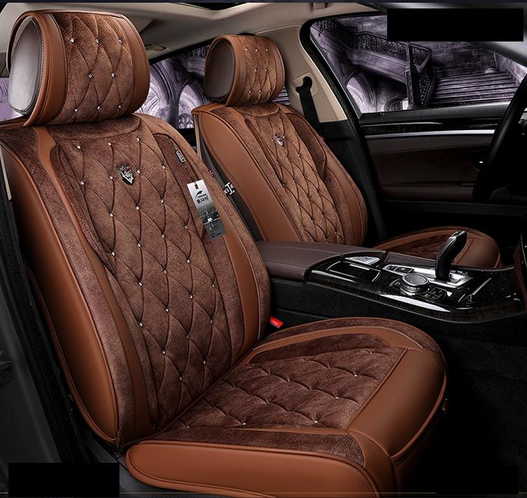 Universal Fit Car Accessories Seat Covers For Sedan Luxury Model PU Leather Adjuatable Five Seats Full Surrounded Design Seat Covers For SUV