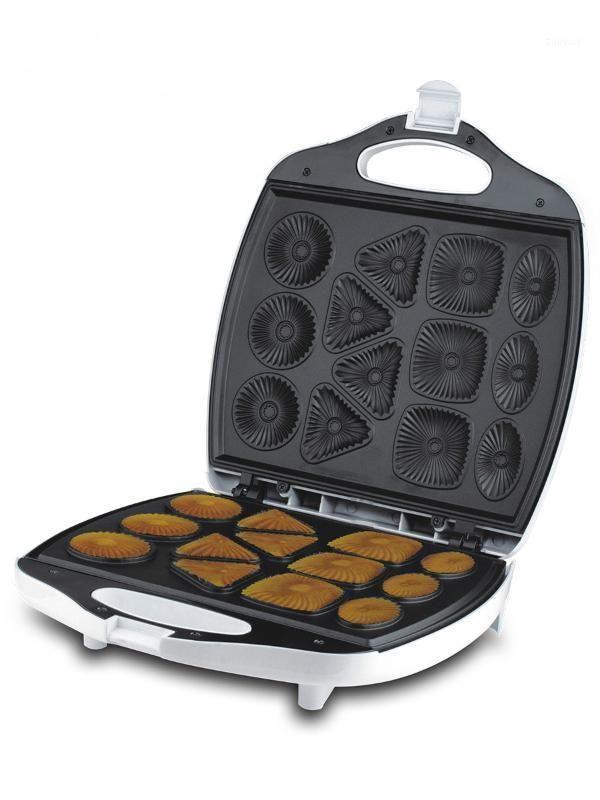 1400W DIY Waffle Pastel Postre de Bakeware Hora eléctrica Pan de horneado antiadherente Calefacción de doble cara 220V Pastel Donut Maker1