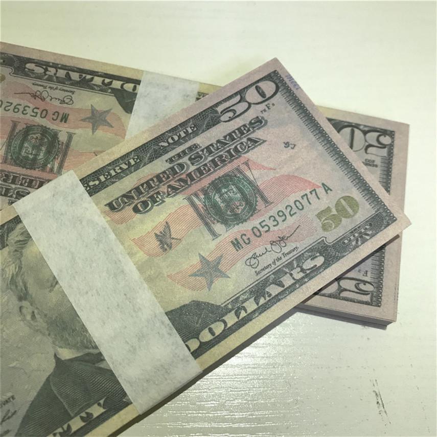 Versandqualität qwqje 100 währung u.s. kopieren requisiten 50-4 schnelle party stücke / paket großhandel währung hohe cpdol