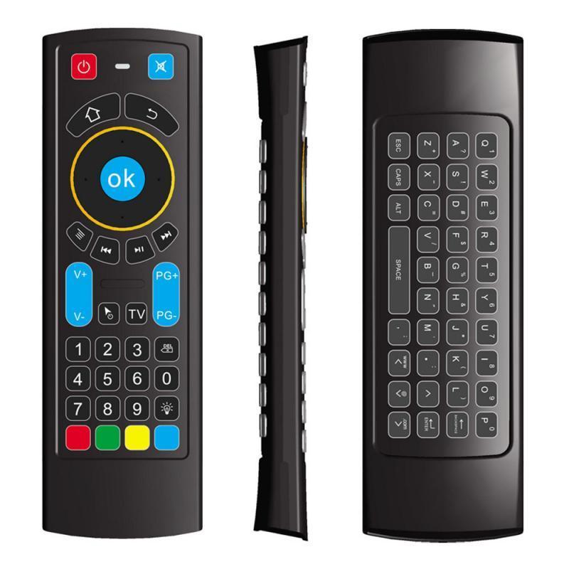 MX3는 안드로이드 TV 상자를 들어 원격 제어 6 축 무선 키보드 백라이트 에어 마우스 CR3 스마트 음성을 PRO
