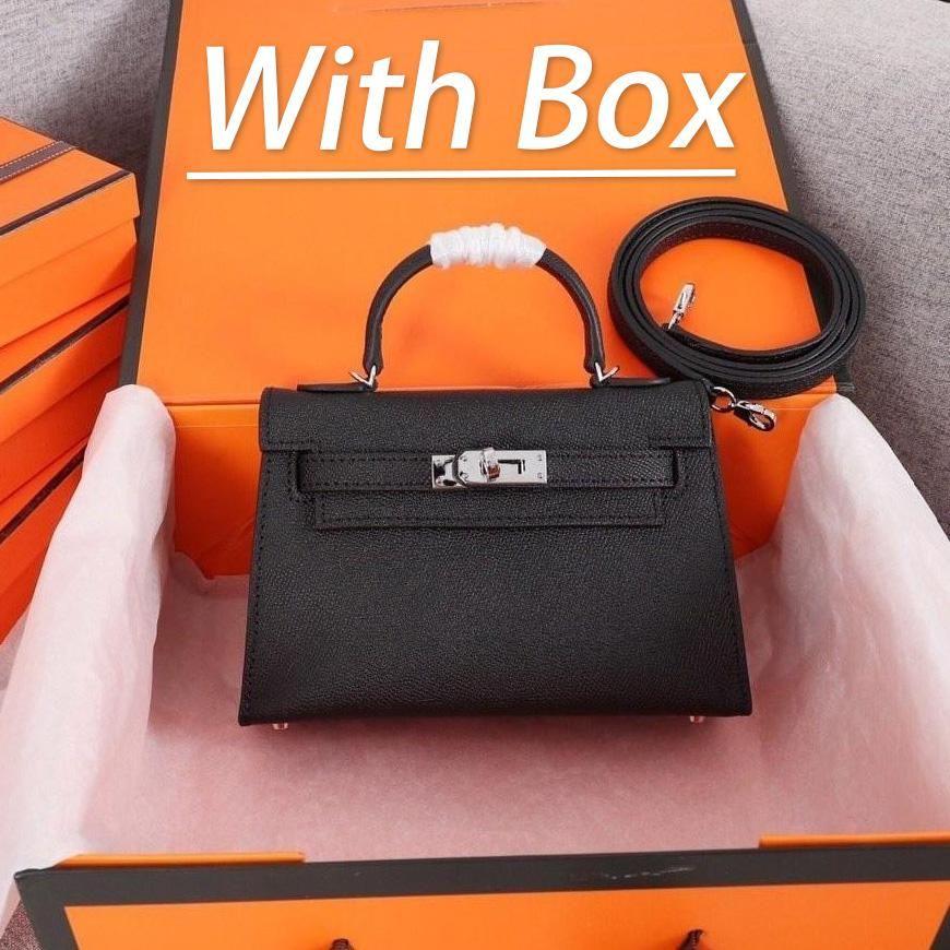 Con caja clásica diseñador bolso bolso bolso de hombro estilo mini correa cruz cuerpo tote monedero de alta calidad genuino cuero palma impresión 12 colores