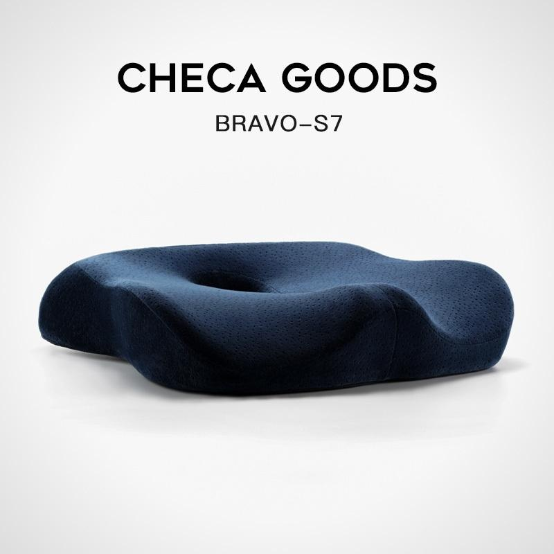 Checa Ürünleri Premium Comfort Koltuk Minderi - Kaymaz Ortopedi 100% Bellek Köpük Coccyx Yastık Ofis Koltuğu Araba Koltuğu 201216