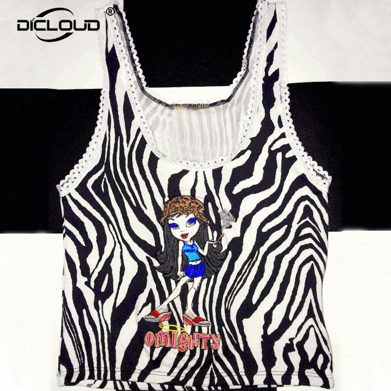 Harajuku Omighty Zebra Bratitude Tank Top Women Punk Girls Letter Embroidery Summer Tops Tees Streetwear Hip Hop Cami Top Vest Y200422 y67o#