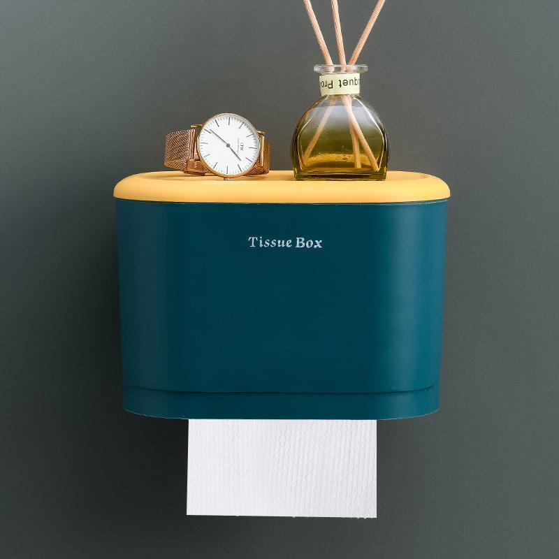 Container Tissue Box Acrylic Cover Square Wall Mounted Hanging Tissue Box Holder Servilletas De Papel Napkins Storage EA60ZJ