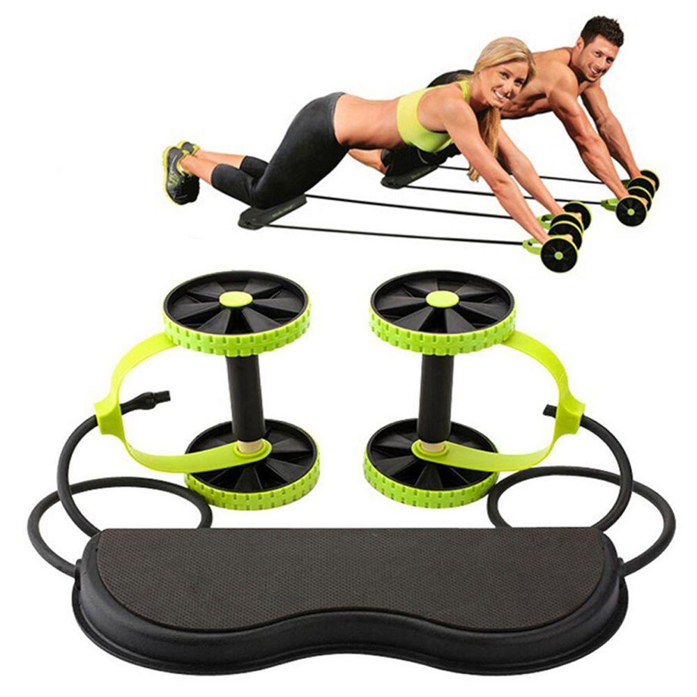 AB عجلات الأسطوانة تمتد مرونة مقاومة البطن سحب حبل أداة البطن العضلات المدرب ممارسة معدات اللياقة البدنية المنزل