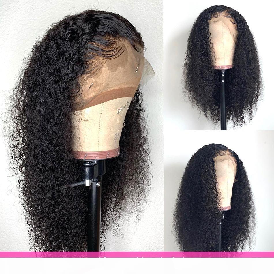 Peluca de onda profunda 360 Peluca frontal de encaje Preparada con cabello bebé 180% Densidad Curly Pelucas de cabello humano para mujeres negras
