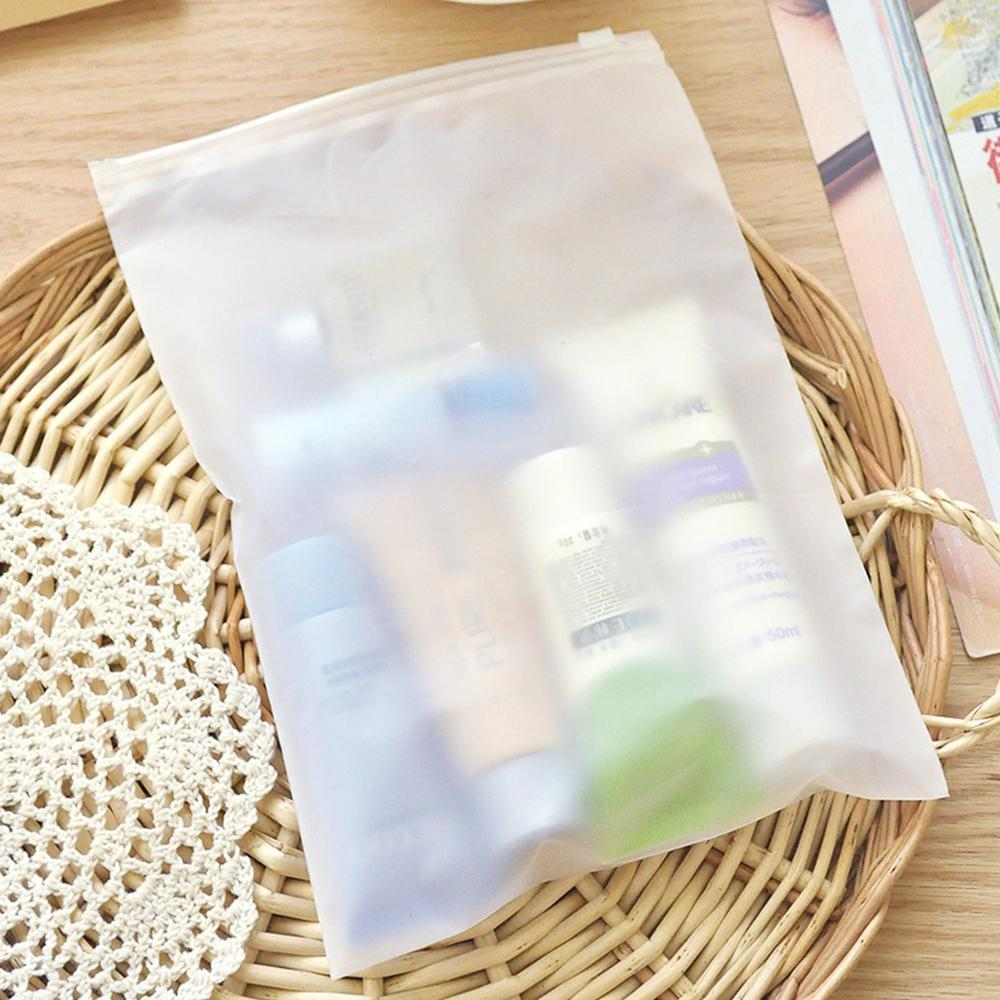 50pcs Lot Matte Clear Plastic Sundries Retails Storage Bag With Slide Zipper Clothes Crafts Traveling Supplies Packaging Pouch H bbysqk