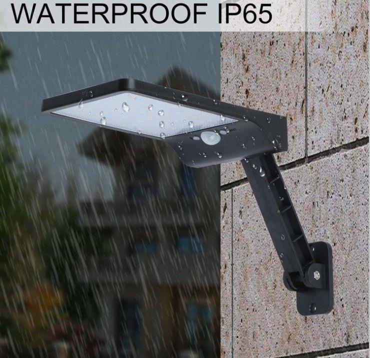 Lampada da parete del sensore di movimento solare a LED Lampada da parete Street Lamp con telecomando impermeabile Garden Lamp Street Luminosità regolabile