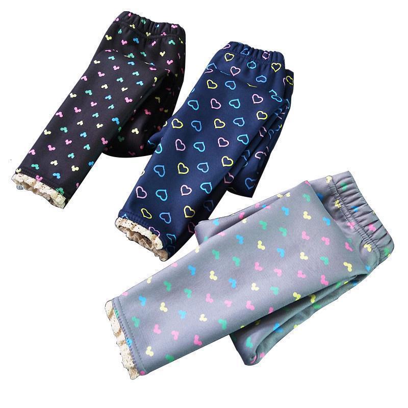 Il nuovo modo di stampa di spessore Leggings caldo più velluto Slim vestiti dei bambini Lace Stitching trasporto di goccia di buona qualità