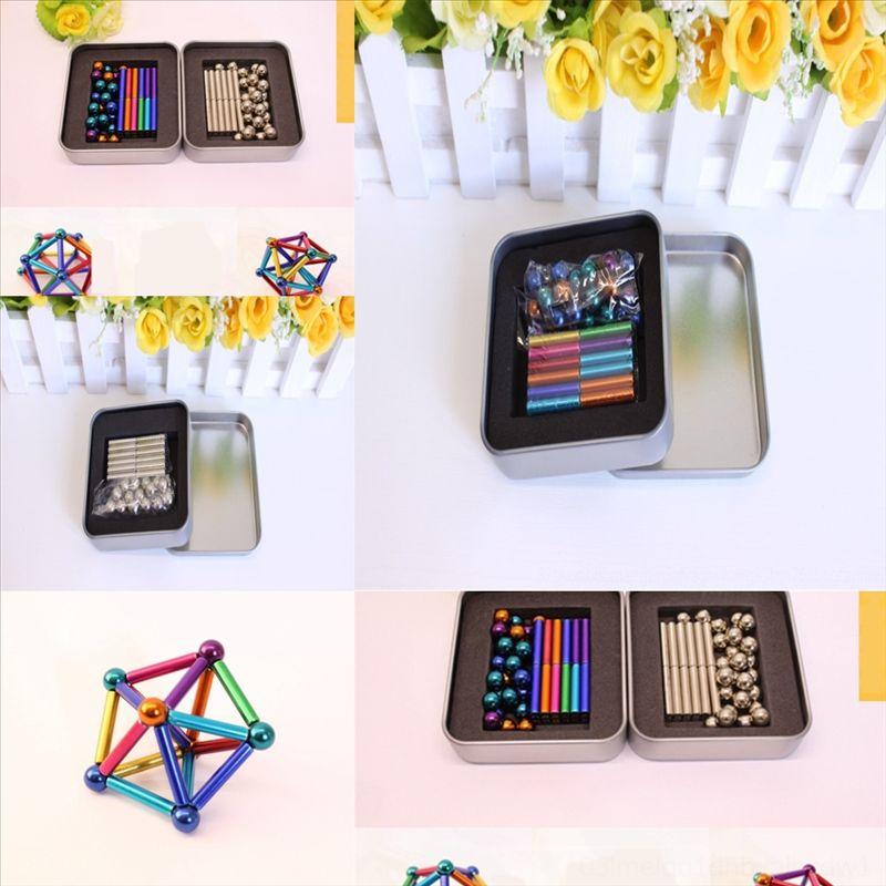 DCPF Buck Colorato Magia Puzzle Perline Magnetico Iron Squishy Decompressione Giocattolo Buckyball Balls Square DECOMPRESSION BALL BALL BALL OTTO GRANUE
