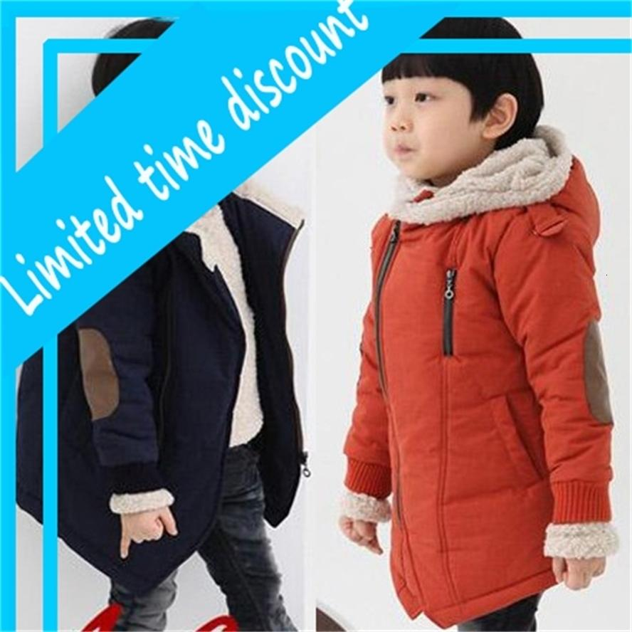 Пальто детский толстый кот одежда лоскутное младенца дети зимняя одежда Snowsuit