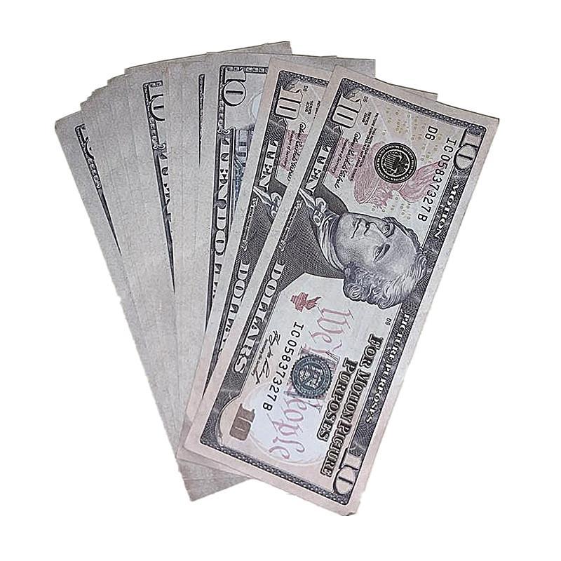 Enfants de Jouets d'expédition 100pcs / Pack Billets de banque rapides American Money accessoires Devise 2e Tir de film Barre de tournage de film Copie Oiega NPPVC