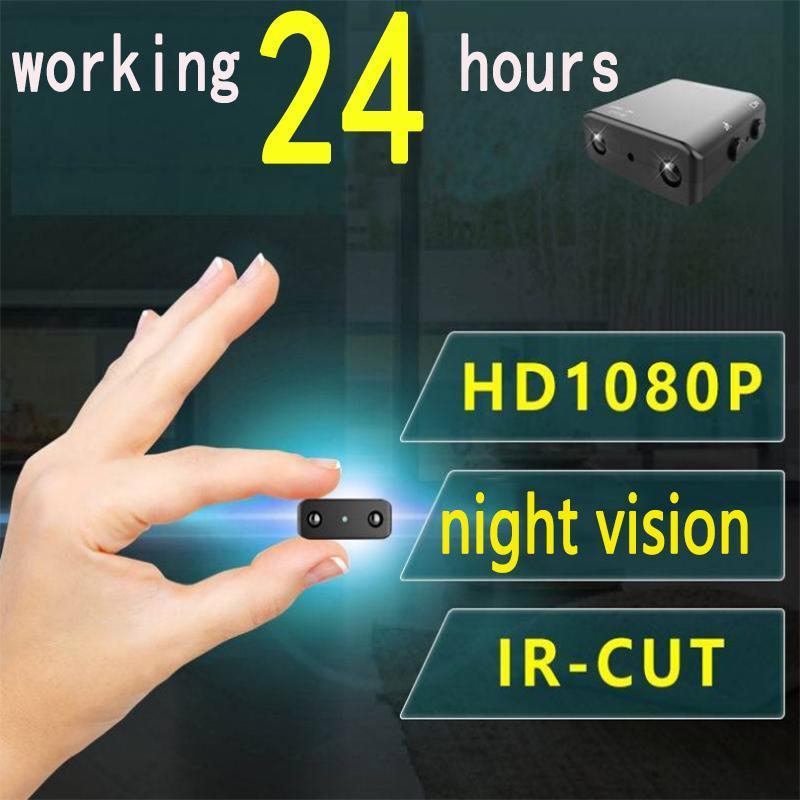 미니 카메라 작은 1080P 풀 HD 캠코더 적외선 나이트 비전 마이크로 캠 모션 감지 IR-CUT DV 지원 숨겨진 TF 카드