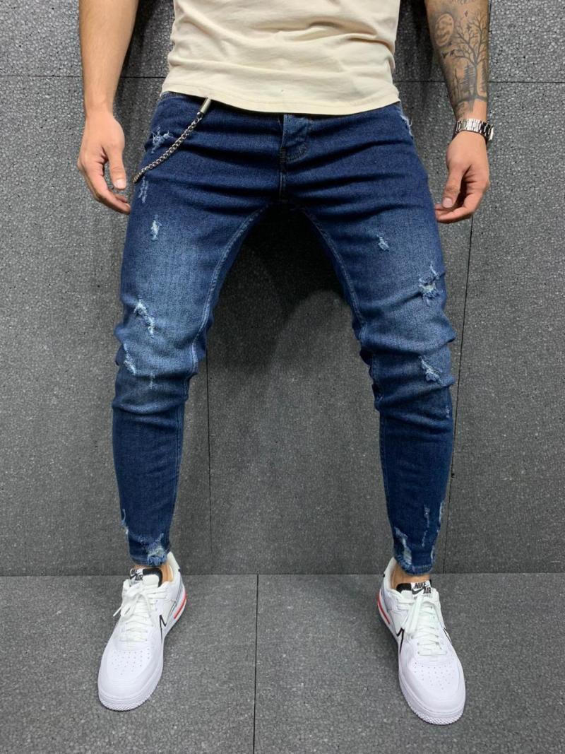 Blue Jeans boyfriend droites Jeans