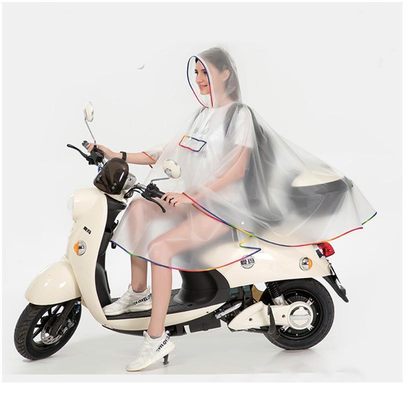 Качество Bbykvb мода плащ многоразовый пластиковый дождь женщин новый пончо ева мужская капюшона накидка для Hikin водонепроницаемый XSJNJ
