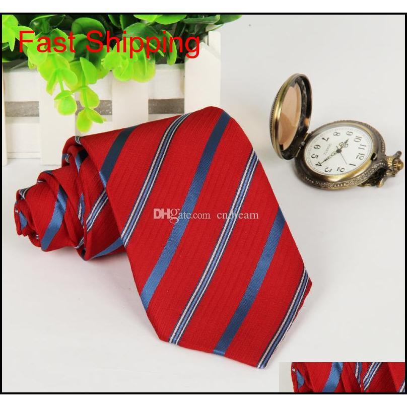 Yeni Moda İş Takım Elbise Kravat Şerit Desen Ties Erkekler Için Düğün Damat Kravat Qylkfh HOMES2007