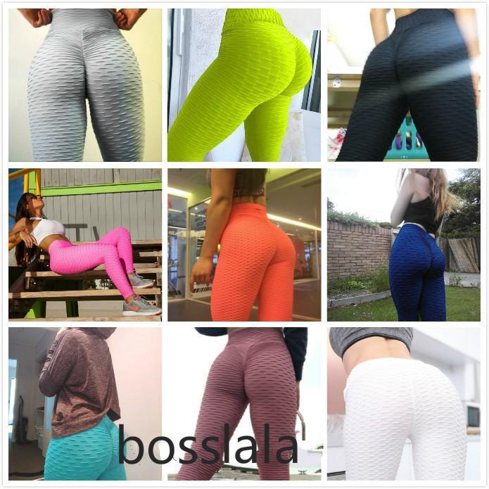 Mujeres Trajes Altos Leggings de cintura Sexy Hip Push Up Pantalones de yoga Pantalones de ejercicios Ropa sólido transpirable Classic Pantalones largos aptitud Mallas 2021