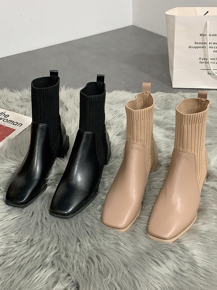 Chaussures élégantes en caoutchouc de la femme Bottes Cuissards bottillons Ladies Luxury Designer Bottes-femmes Plateforme Med cheville