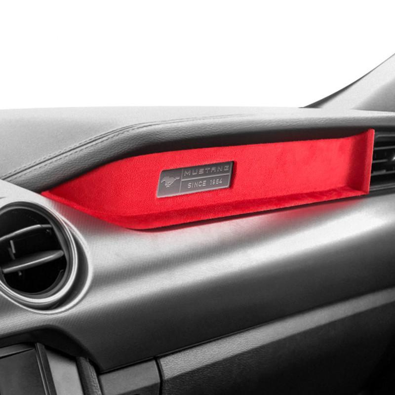 Dekoratif Kontrol Cihazı Aksesuarları için Performans Ford Süsleme Mustang Panel Alcantara Sticker 2015-2020 Iç Çözgü Kmsqn