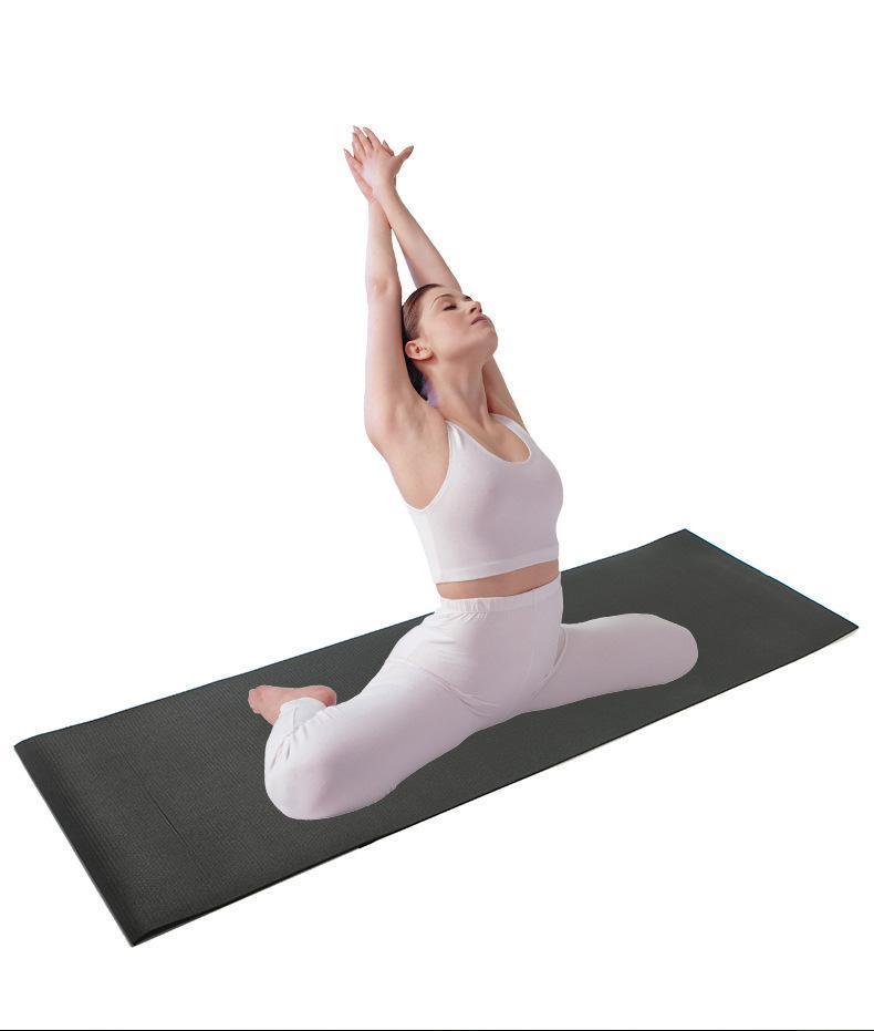 Freundliche TPE strukturierte rutschfeste Oberfläche Yoga-Matten personalisierte 6mm EVA-Schaum dickes Wildleder gedrucktes PU-kundenspezifisches Logo