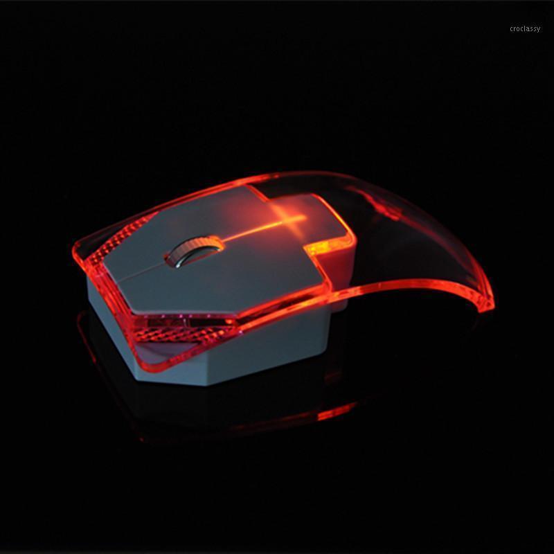 Camundongos moda sem fio mouse colorido criativo transparente luminoso mudo menina escritório presente1