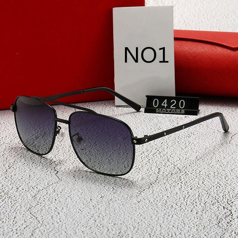 luxury- Летние мужские Cолнцезащитные очки Goggle Роскошные солнцезащитные очки UV400 0420 5 цветов Превосходное качество с коробкой